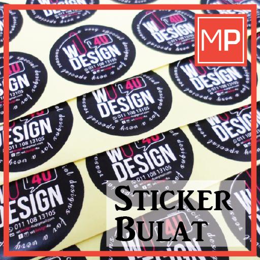Sticker Bulat Murah